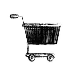 monochrome blurred silhouette of shopping cart vector image vector image