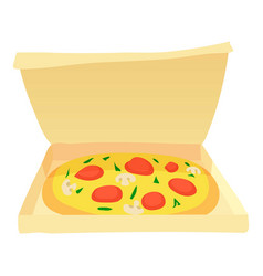Pizza icon cartoon style vector