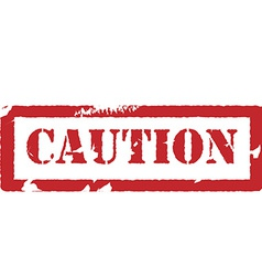 Rubber stamp with text caution vector image