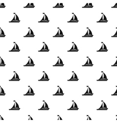 Sailing ship pattern simple style vector