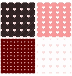 Seamless pattern with paper hearts vector image vector image