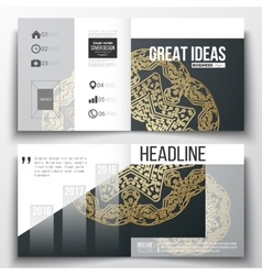 Set of business templates for brochure magazine vector