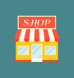 Shop and store icon vector