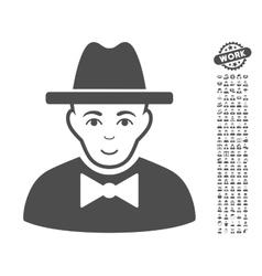 Spy icon with bonus vector