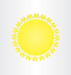 Sun energy solar button design vector