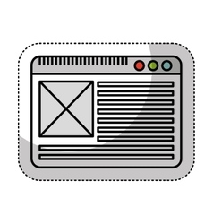 web page template icon vector image