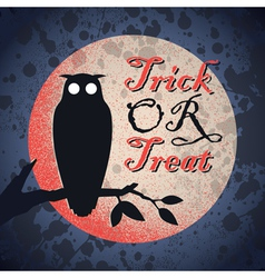 Vintage grungy halloween design vector
