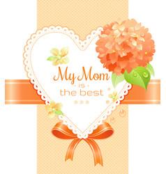 Orange hydrangea cherry blossom flowers poster vector