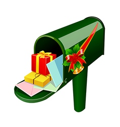 A mail box stand on vector image