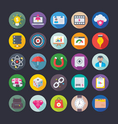 business and office icons 7 vector image