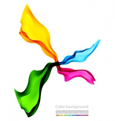 colored smoke on white background vector image
