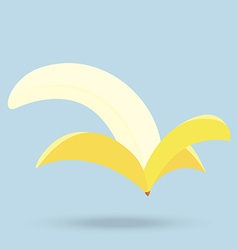 banana isolated on background vector image