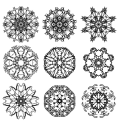 Round ornamental geometric pattern vector