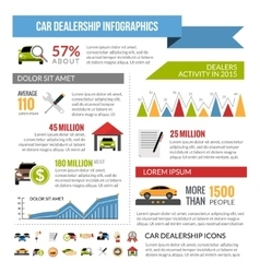 Car dealership infographics layout vector