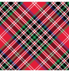 Kemp tartan fabric texture check diagonal pattern vector