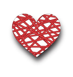 Card with red heart vector image