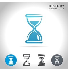 History blue icon vector
