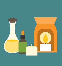 Aromatherapy equipment icons set vector
