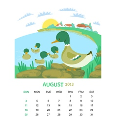 August vector image