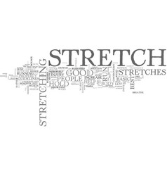 basic stretches for runners text word cloud vector image vector image
