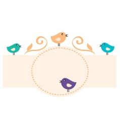 Beautiful Romance Birds Frame vector image vector image