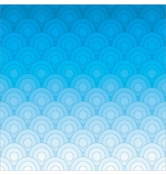 blue retro circles pattern vector image vector image