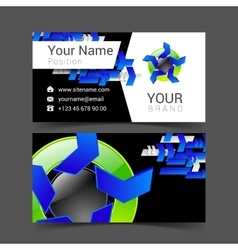 business card for your business logo with abstract vector image vector image