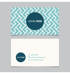 business card pattern blue 01 vector image vector image