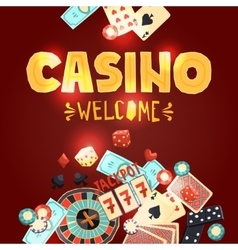 Casino gambling poster vector image vector image