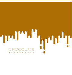 Chocolate irregular rounded lines background vector