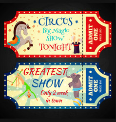 Circus ticket 1 vector