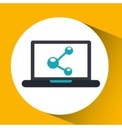 cloud computing share social media virtual icon vector image vector image