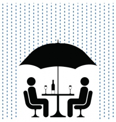 Cocktails in rain vector
