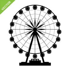 Ferris wheel silhouettes vector image vector image