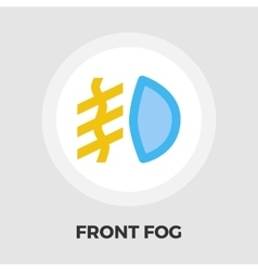 Front fog light flat icon vector