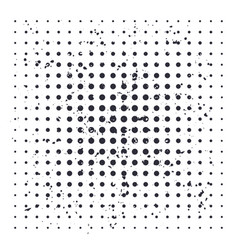 halftone background with black dots vector image