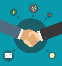 handshake of business partners successful deal vector image