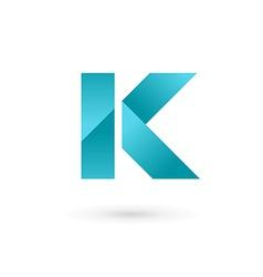 Letter K logo icon design template elements vector image vector image