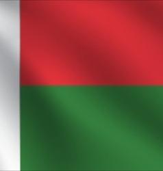 Madagascar flag vector