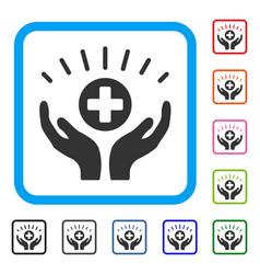 Medical prosperity framed icon vector