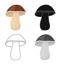 Mushroom icon cartoon singe vegetables icon from vector
