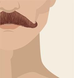 mustache man vector image