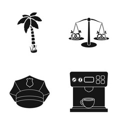 Palma scales and other web icon in black style vector