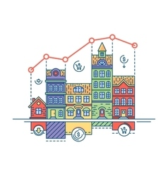 Real estate market vector