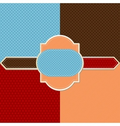retro pattern background vector image vector image