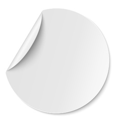 Round paper sticker placed on white vector image vector image