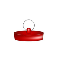 Rubber plug in red design vector
