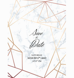 Save the date design template vector