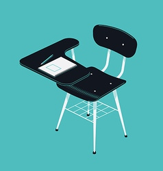 School desk icon vector