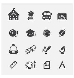 school icon vector image vector image